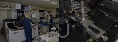 20台以上の放電加工機による微細放電加工