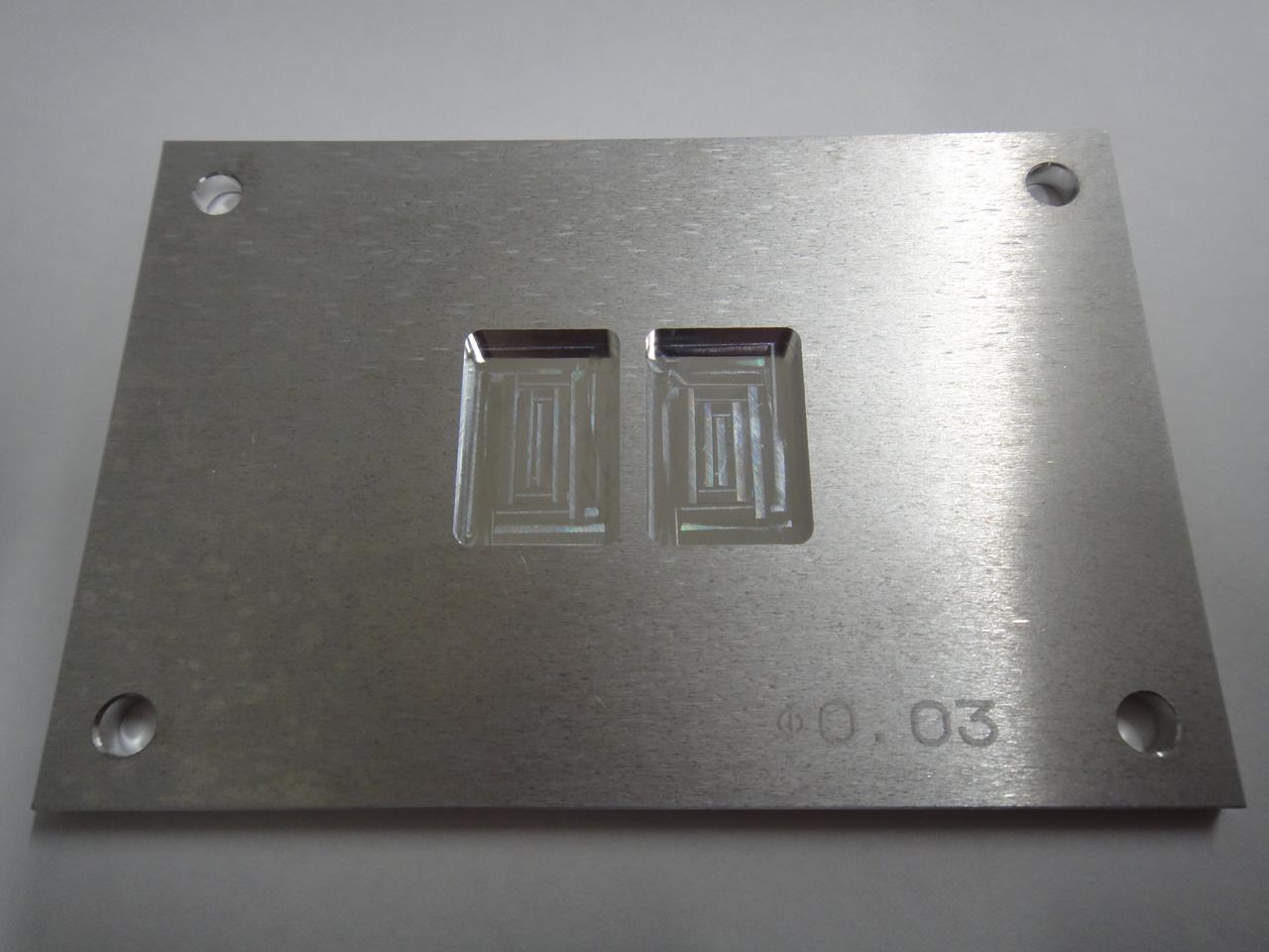 厚み0.2mmのアルミプレートへの微細孔加工
