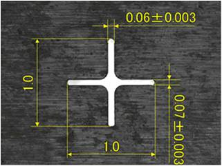 t0.5の超鋼材へのスリット加工